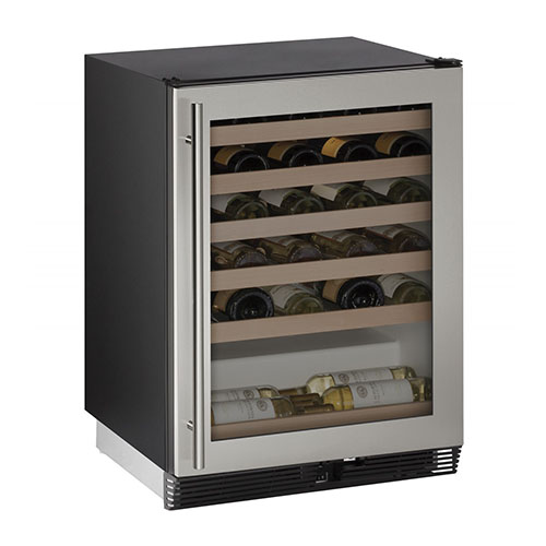 U-LINE 15   Wine Captain 48 Bottle Stainless Steel Wine Cooler