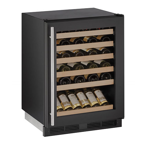 U-LINE 24  Wine Captain 48 Bottle Black Wine Cooler