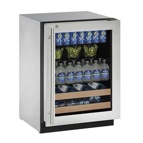 2000 Series Stainless Steel Wine & Beverage Center with Lock- Left Hinge