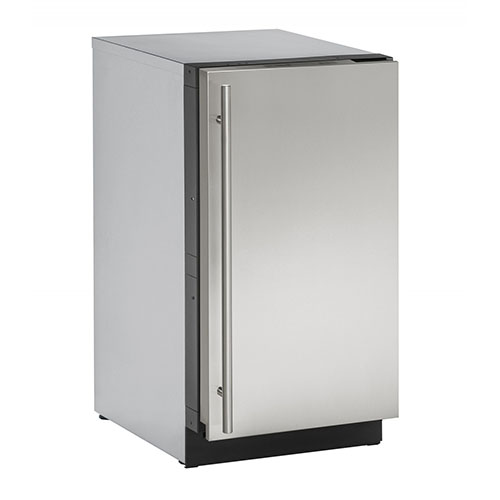 U-LINE 18  Stainless Steel Clear Ice Maker with Pump- Left Hinge