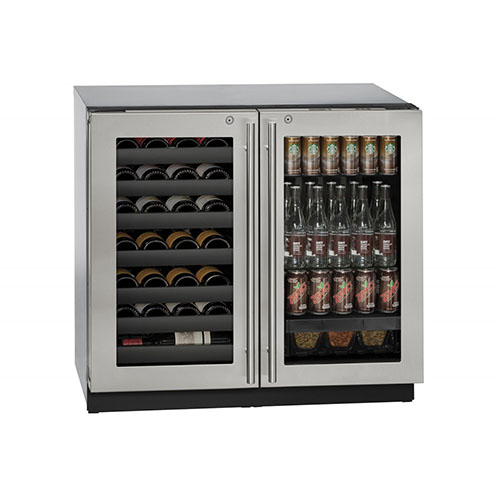 U-LINE 36  Stainless Steel Wine and Beverage Center with locking Door
