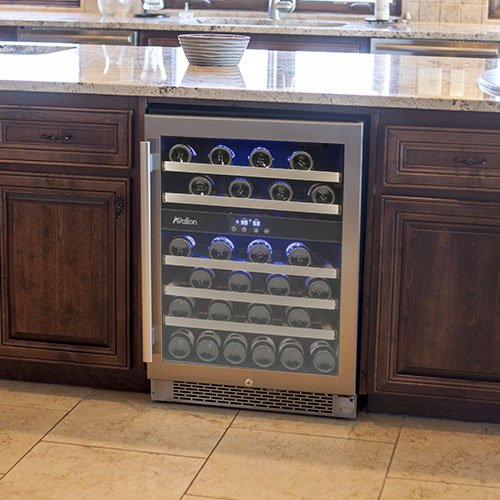 Avallon 46 Bottle Dual Zone Built-In Wine Cooler