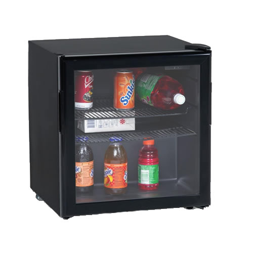 Avanti 1.9 Cu. Ft. Black Beverage Cooler w/ Glass Door
