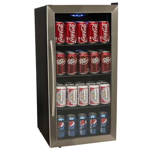 Avanti 3.1 Cu. Ft. Beverage Cooler - Black/Stainless Steel