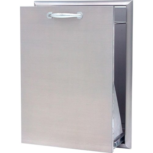 18 Inch Roll Out Outdoor Stainless Steel Trash Bin