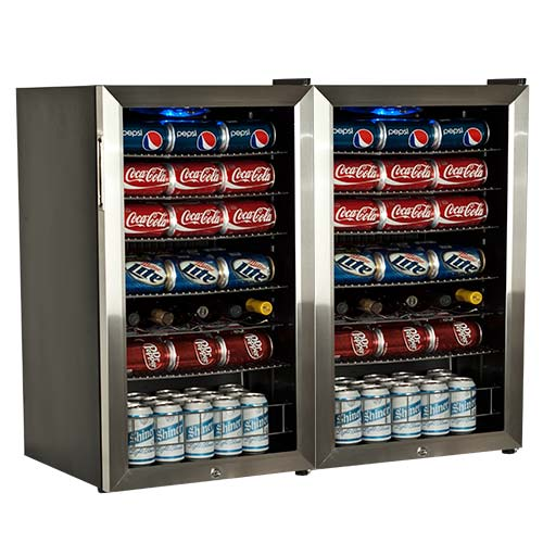 EdgeStar 206 Can Ultra Low Temperature Side-by-Side Beverage Cooler