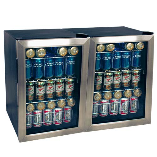 EdgeStar 168 Can Extreme Cool Side-by-Side Beverage Cooler