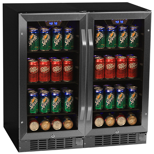 EdgeStar 160 Can Built-In Side-by-Side Beverage Cooler