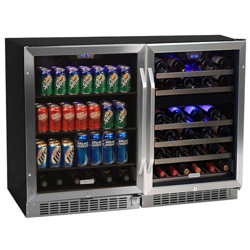 EdgeStar 46 Bottle + 148 Can Side-by-Side Wine & Beverage Center