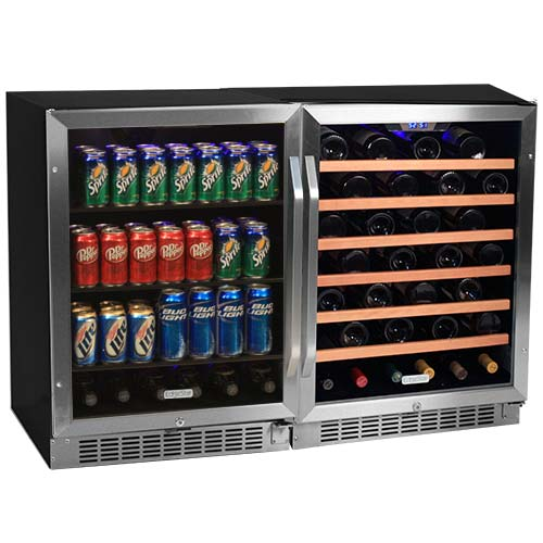 EdgeStar 53 Bottle + 148 Can Side-by-Side Wine & Beverage Center