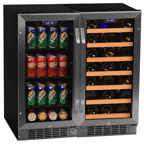 EdgeStar 30 Bottle + 80 Can Side-by-Side Wine & Beverage Center