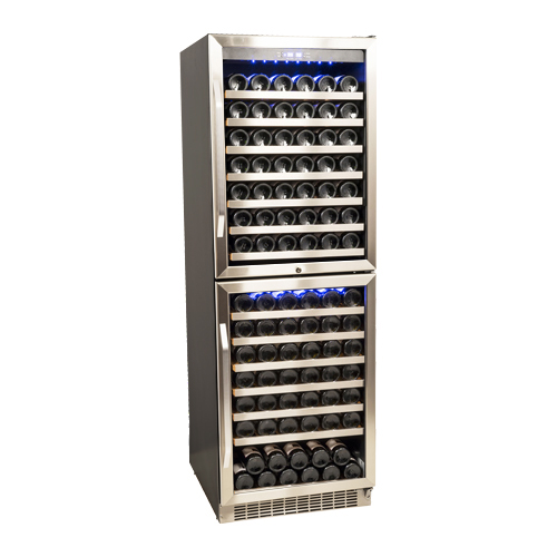 EdgeStar 155 Bottle Double Door Dual Zone Wine Cooler