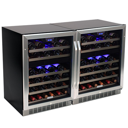 EdgeStar 92 Bottle Built-In Side-by-Side Wine Cooler