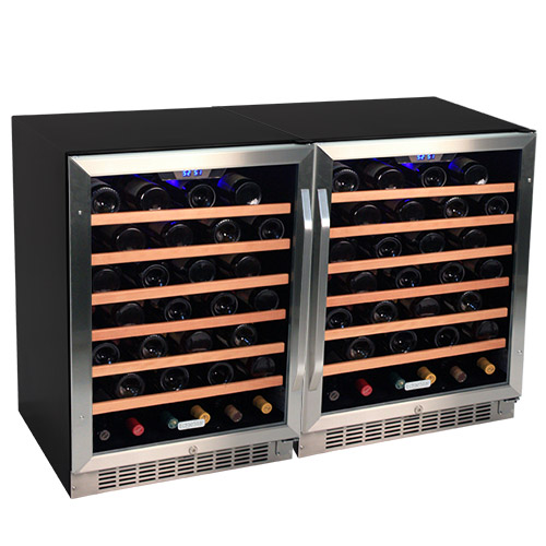 EdgeStar 106 Bottle Built-In Side-by-Side Wine Cooler