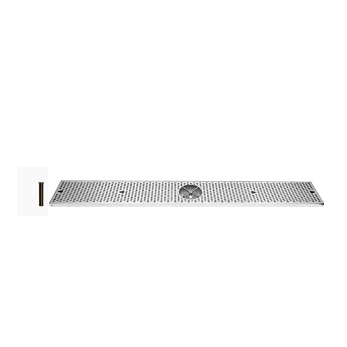48 Inch Stainless Surface Mount Drip Tray with Rinser