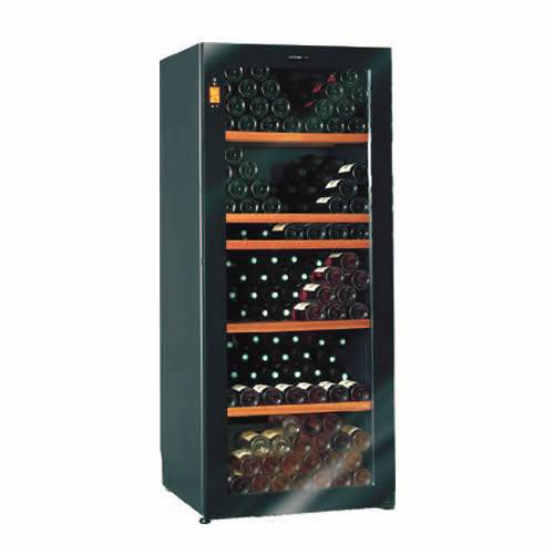 Climadiff Diva 265 Bottle Single Temp Glass Door Cabinet Wine Cooler