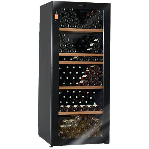 Climadiff Diva 265 Bottle Multi-Temp Wine Cooler with 13 Shelf Package