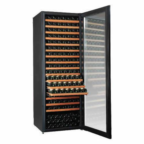 Climadiff Diva 315 Bottle Single Temp Wine Cooler with 6 Shelf Package