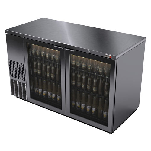 Fagor 59 Inch Stainless Glass Door Back Bar Cooler
