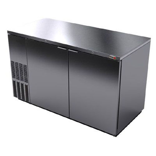 Fagor 59 Inch Stainless Steel Dual Temp Back Bar Cooler