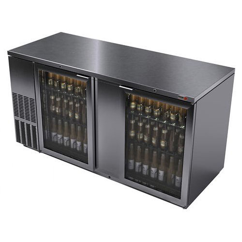 Fagor 69 Inch Stainless Glass Door Back Bar Cooler