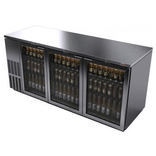 Fagor 79 Inch Stainless Glass Door Back Bar Cooler
