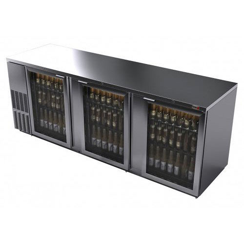 Fagor 95 Inch Stainless Glass Door Back Bar Cooler
