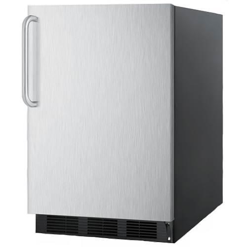 Summit 5.5 Cu. Ft. All Refrigerator w/ Stainless Steel Door & Towel Bar Handle