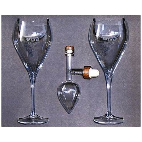 Centellino Gift Box - Decanter and Two Wine Goblets