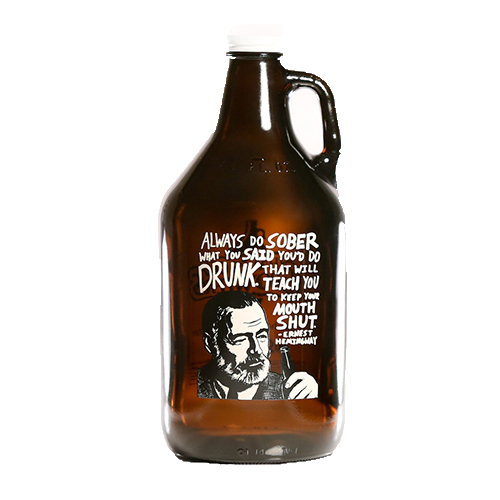 Hemingway Quote Growler 64 oz