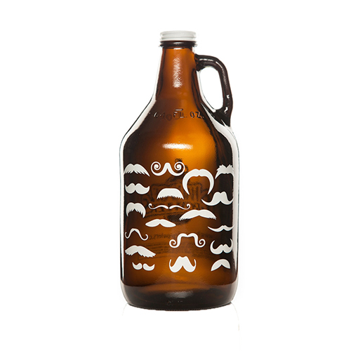 Many A Stache Growler 64 Oz