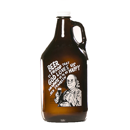 Franklin Quote Growler 64 oz