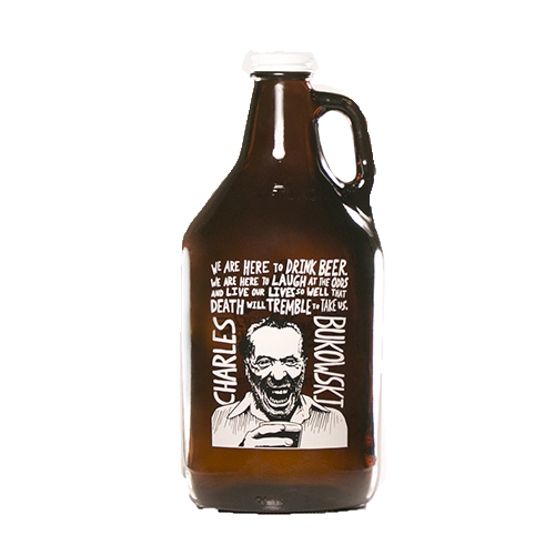 Bukowski Quote Growler 64 oz