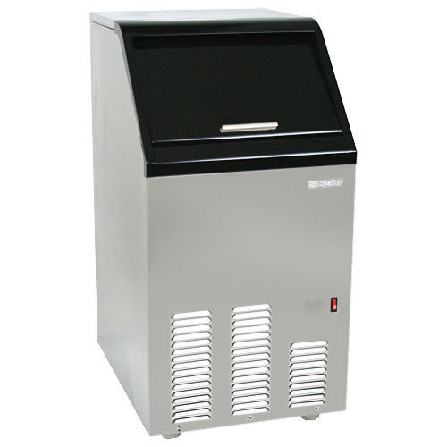 EdgeStar 65 Lb. Automatic Ice Maker - Stainless Steel and Black