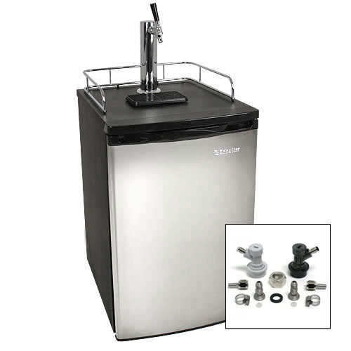 EdgeStar Ultra Low Temp Full Size Kegerator with Stainless Steel Door w/ Home Brew Tap