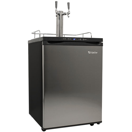 EdgeStar Stainless Steel Full Size Dual Tap Kegerator with Digital Display