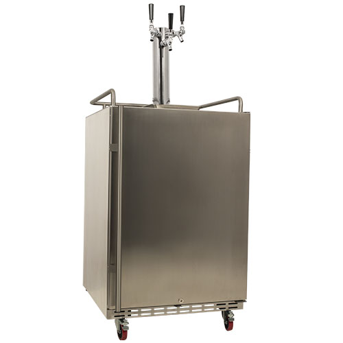 EdgeStar Full Size Triple Tap Built-In Outdoor Kegerator