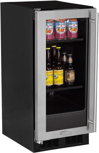 15  Beverage Center Stainless Frame Glass Door - Left Hinge
