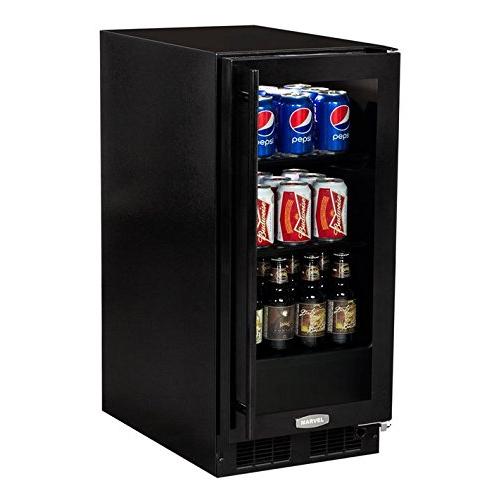 15  Beverage Center Black Frame Glass Door - Right Hinge