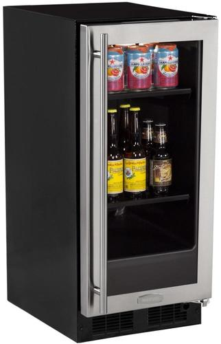 15  Beverage Center Stainless Frame Glass Door - Right Hinge
