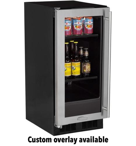 15   Beverage Center Solid Panel Overlay Ready Door - Left Hinge