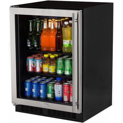 Built-In Beverage Center Stainless Frame Glass Door - Left Hinge