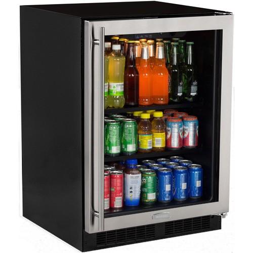 Built-In Beverage Center Stainless Frame Glass Door - Right Hinge