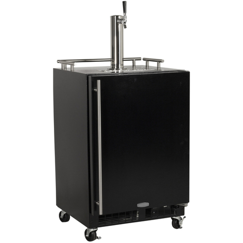 Built-In Full Size Mobile Kegerator Black Door - Right Hinge