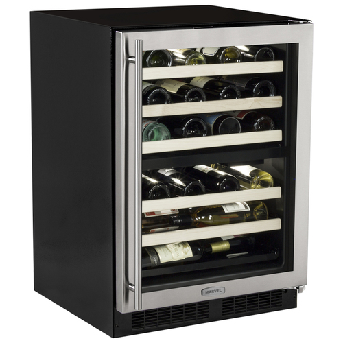 Marvel 24  Built-In Dual Zone Wine Cellar-Left Hinge