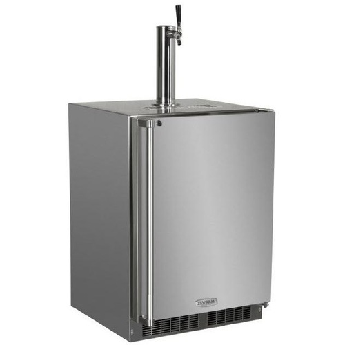 Outdoor Built-In Kegerator Stainless Steel With Lock - Right Hinge