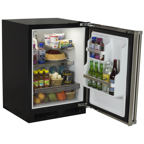 Marvel 24  Built-In Pro Refrigerator with Crisper Drawer with Lock-Right Hinge