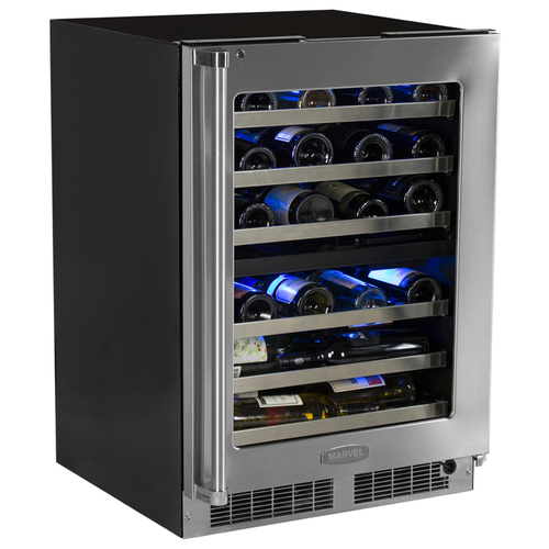 Marvel 24  Built-In Pro Dual Zone Wine Cellar with Lock-Right Hinge
