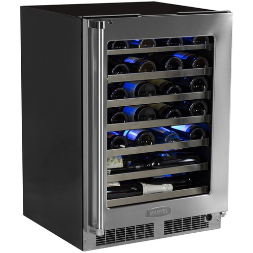 Marvel 24  Built-In Pro Single Zone Wine Cellar with Lock-Right Hinge