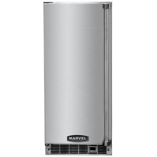 Marvel Professional 15 Inch Indoor Clear Ice Maker with Stainless Steel Door and Pump
